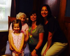 Four Generations of One Family All Get Adjusted! Photo Lft to Rt: Evelyn, Maxine, Sarah, and Dr. Amy